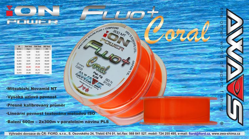 ION POWER Fluo+ Coral - 2x300m/600m