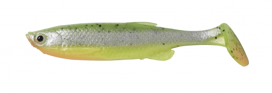 FAT T-TAIL MINNOW Fluo Green Silver 7,5 cm