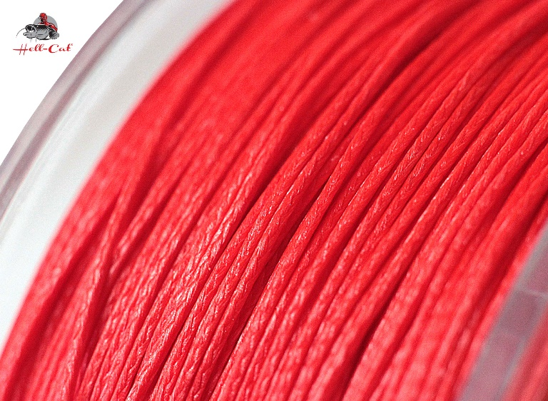 Hell-Cat Splétaná šňůra Round Braid Power Red 1000m|0,70mm (85,0kg)