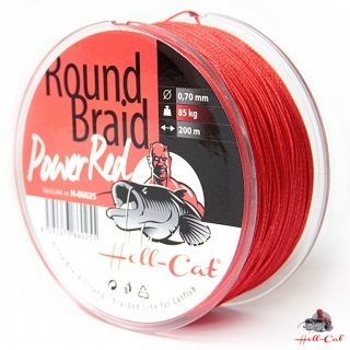 Hell-Cat Splétaná šňůra Round Braid Power Red 1000m